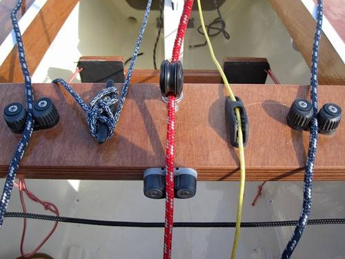The Trika 540 trimaran controls