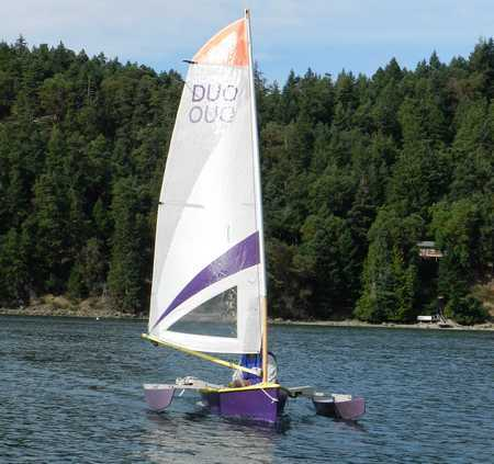 The light and stable Tryst 10 ft trimaran