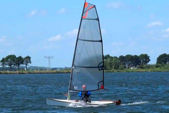 The Viola 14 is a lightweight sailing canoe with dinghy performance