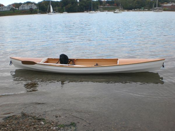 Builder is very proud of his canoe built from the Fyne Boat Kit plans