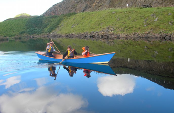The Wastwater canoe is an easily controlled fun boat for children