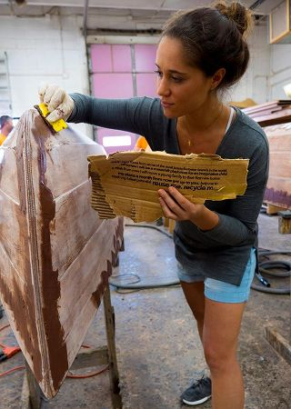 Building the clinker-style wooden sailing canoe, Waterlust