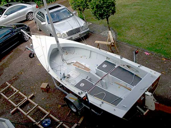 Self assembled sailing boat from Welsford AWOL