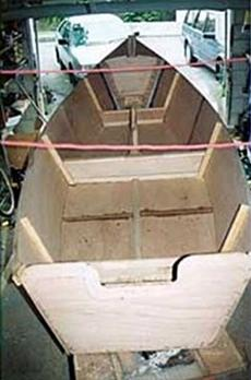 Building a Golden Bay sailing boat from plans from Fyne Boat Kits