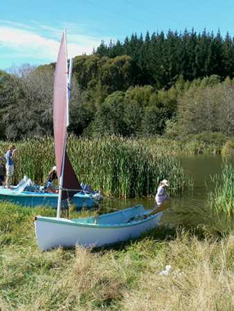 Wooden sailing boat self built from plans - Golden Bay from Fyne Boat Kits