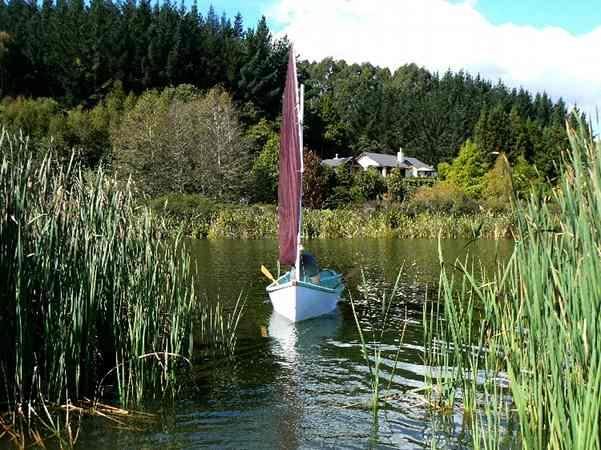 Self build Golden Bay sailing boat from Fyne Boat Kits