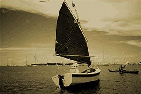 DIY 13 foot sailing boat built from plans