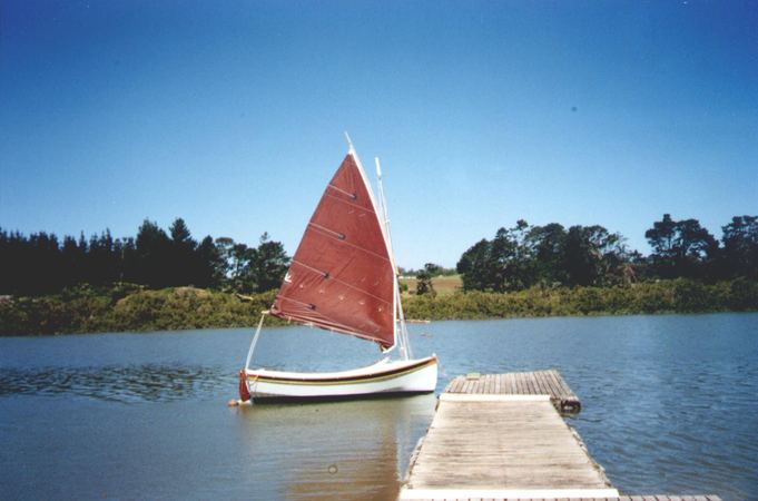 Launch of build yourself 13 foot sailing boat