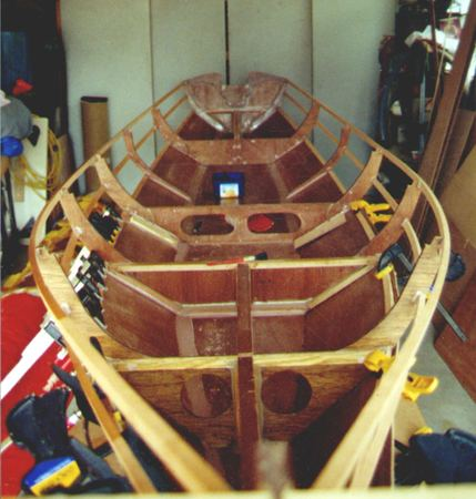 Building rowing boat Joansa from the plans