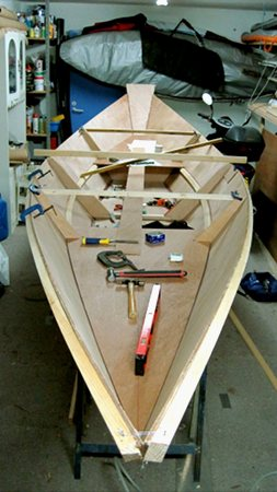 Amateur boat building at home