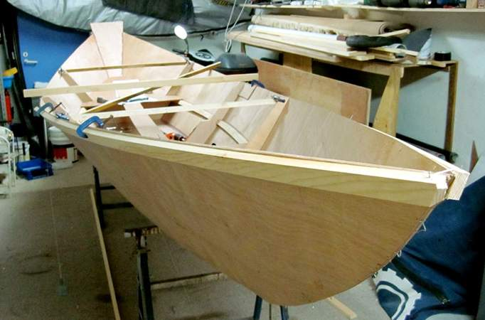 Home boat building from Welsford light dory plans