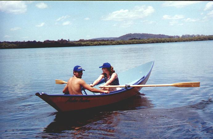 Self build rowing boat Welsford Light Dory from Fyne Boat Kits