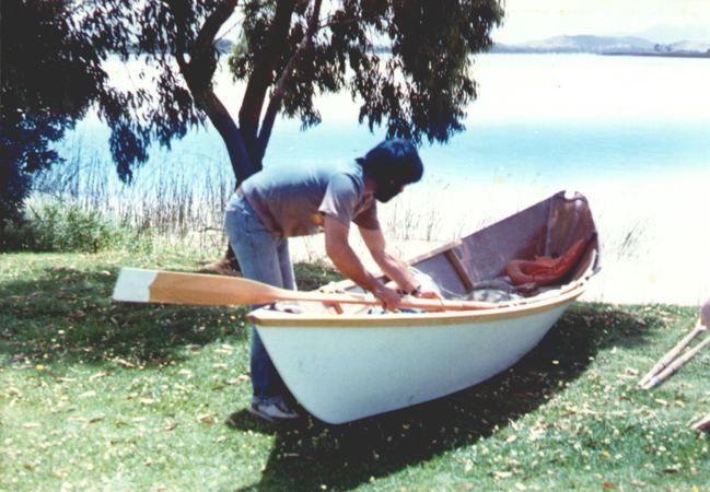 Welsford in his self built Light Dory