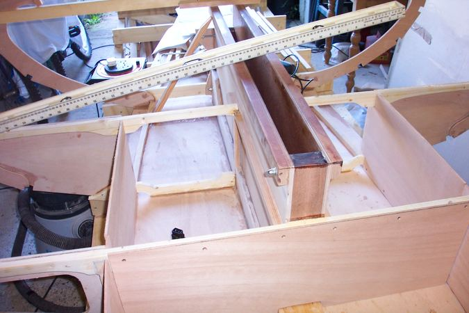 Building a Navigator from a Fyne Boat Kit - centre board case in place