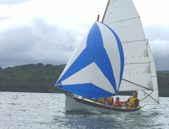 15 foot Navigator sailing boat built from kit designed by Welsford supplied by Fyne Boat Kits