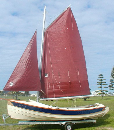 Home built sailing boat for up to four people