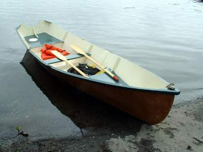 Wooden rowing boat Seagull building plans