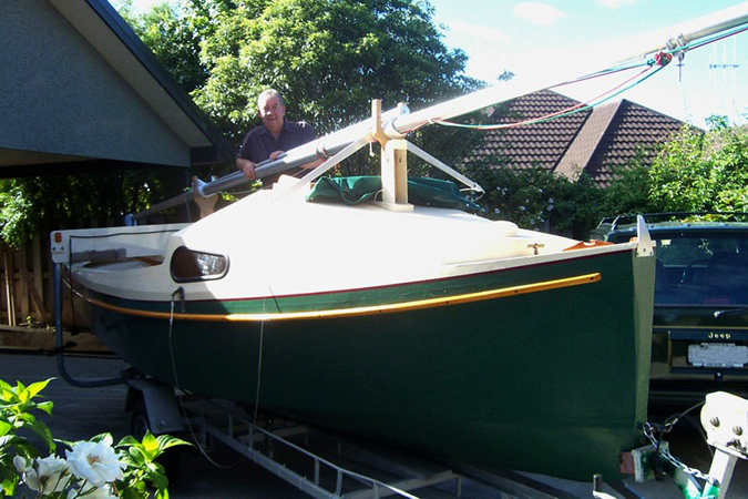 Self build sailing camp cruiser from Fyne Boat Kits