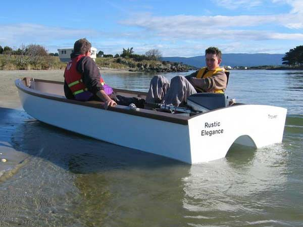 Wooden boat to build at home from the plans