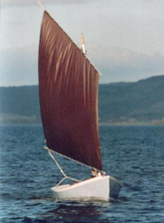 A self built boat using plans by welsford from Fyne Boat Kits