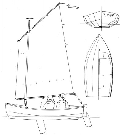 An attractive sea sailing boat built from the plans