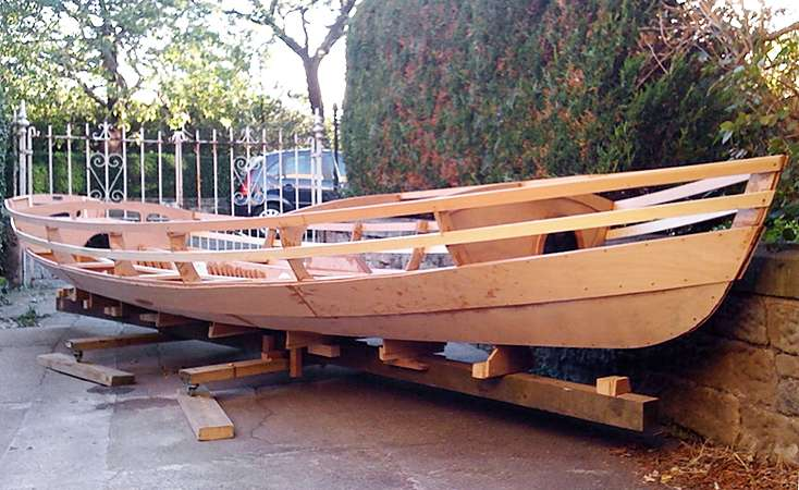 Welsford Walkabout sailing dinghy build