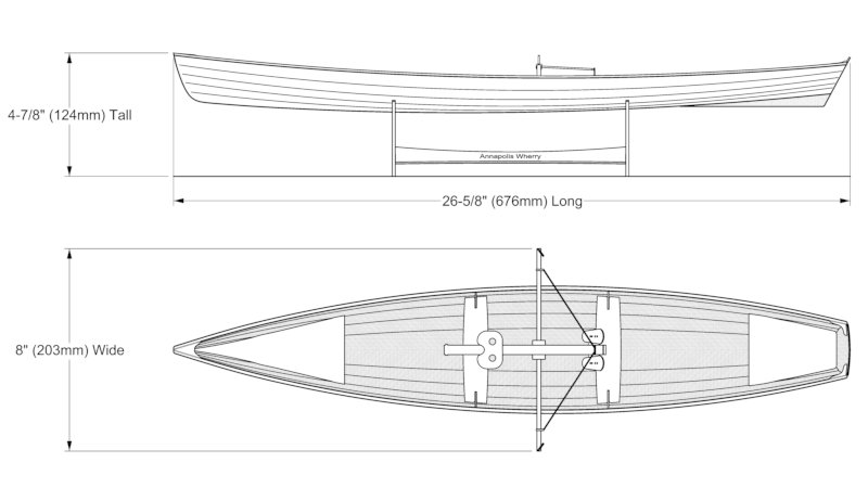 Scale model kit of the Annapolis Wherry