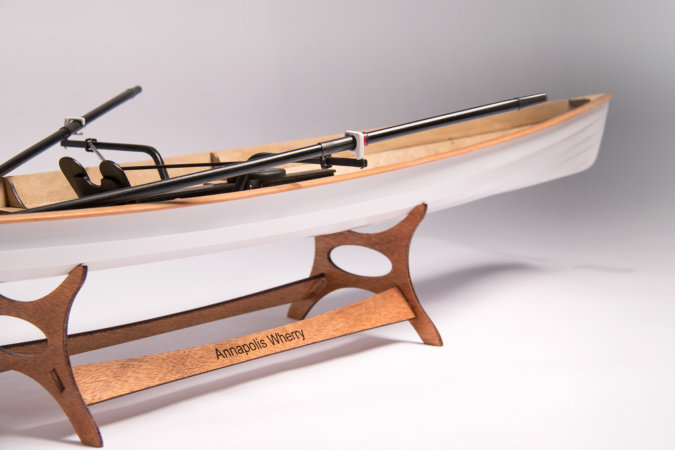 Accurate scale model of the Annapolis Wherry, constructed like the full-size boat