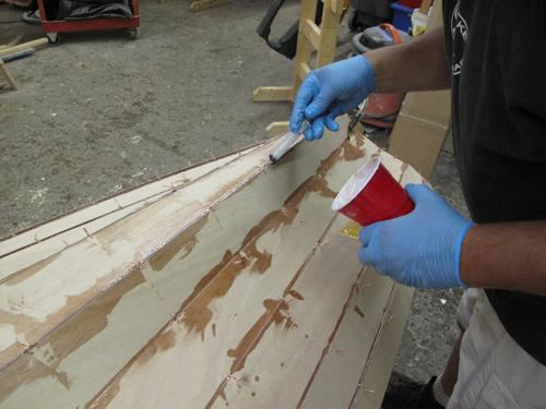 Using pec epoxy on a tandem wherry build