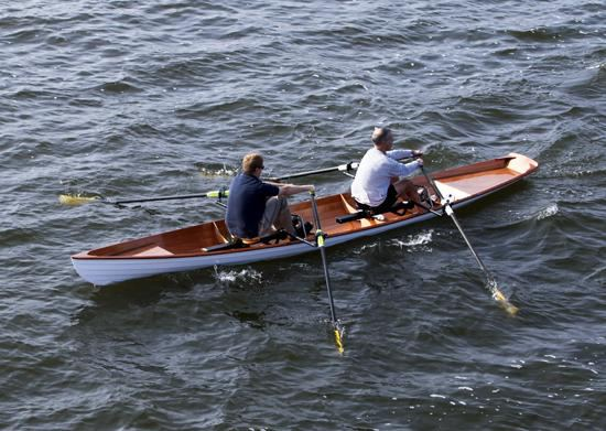Tandem wherry rowing kit self built from a Fyne Boat Kit