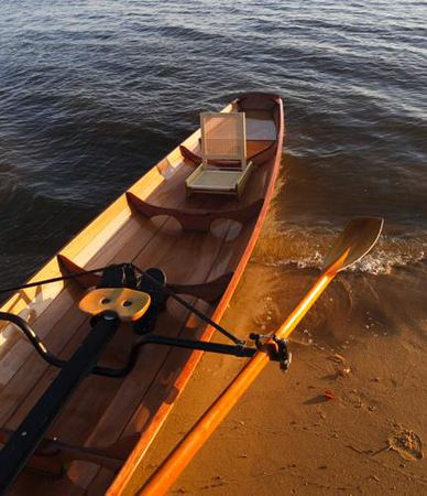 Home made two sliding seat rowing boat from Fyne Boat Kits