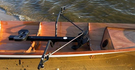 Two piantedosi rowing units in a clinker rowing boat