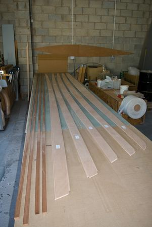 Fyne Boat Kits rowing Wherry start of the build