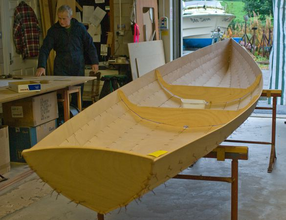 Rowing Wherry build from a Fyne Boat Kit