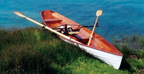 An easy to build wooden rowing wherry build the row boat in 5 days