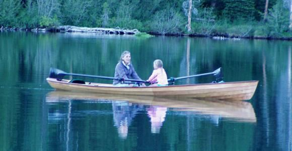 Two seats easy to row wooden wherry rowing boat that can be built at home in days