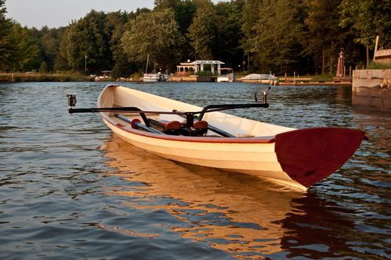 Self build rowing boat made from a Chesapeake Light Craft kit
