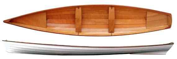 Plan of self built wherry rowing boat