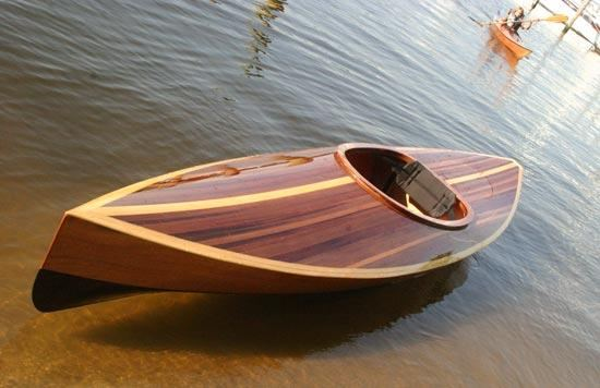 Cedar Strip hybrid Wood Duck recreational kayak