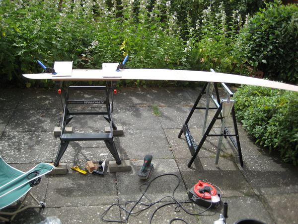Stages in building a Wood Duck kayak from a kit