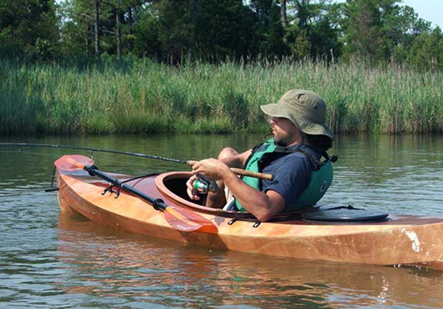 Build a fishing kayak from a Fyne Boat Kit