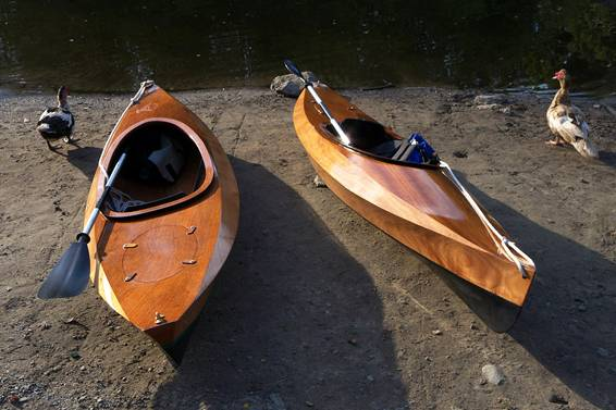 Wood Duck 10 wooden kayaks with ducks