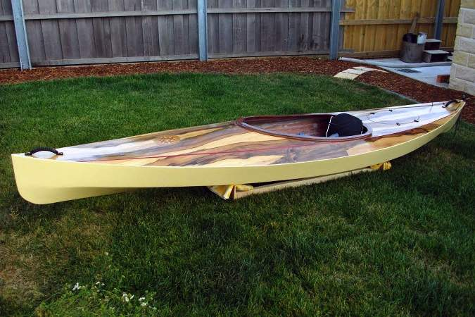 A Wood Duck 12 kayak with a custom deck