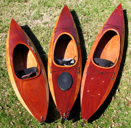 The Wood Duck kayak range: 10, 12 and 14
