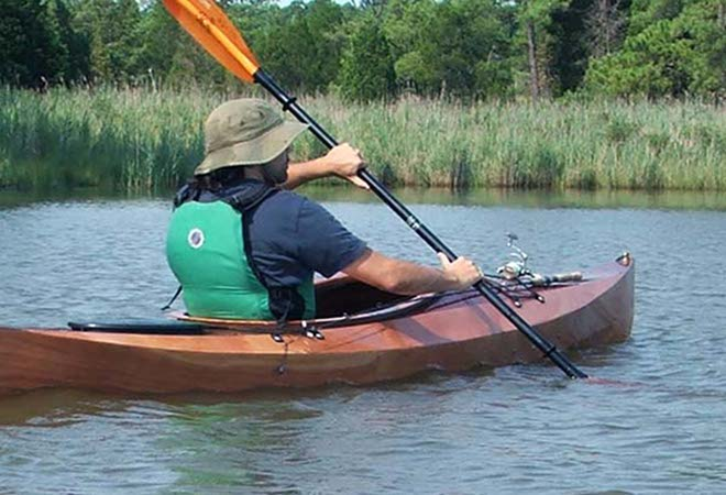 Wood Duck 12 recreational kayak self built