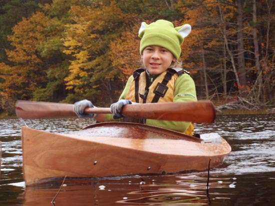 Build a wooden kayak for your child from a kit