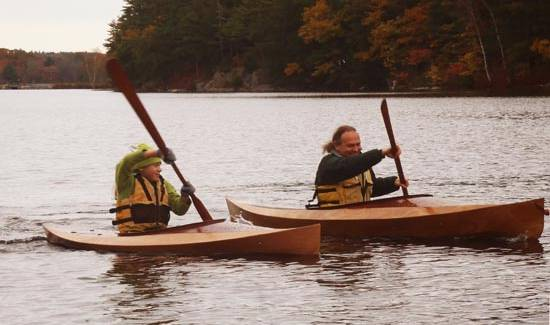 The Wood Duckling is a child's kayak based on Eric Schade's Wood Duck