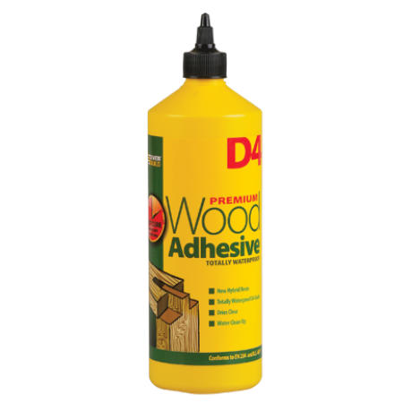 Everbuild D4 waterproof wood glue for building strip-planked boats