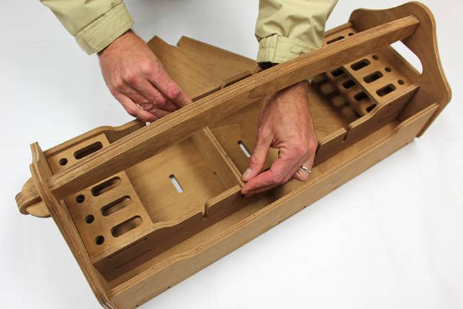 A pre-cut plywood toolbox kit that makes a good introduction to kit construction