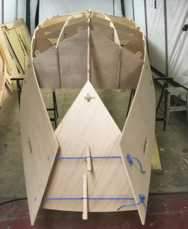 The Workstar 17 workboat is built using plywood panels that slot together